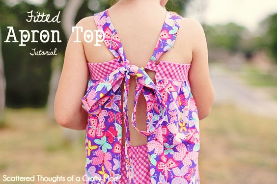 Scattered Thoughts of a Crafty Mom: Fitted Apron Top Tutorial