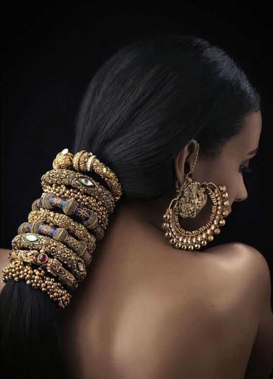 These Bollywood inspired accessories are totally over the top but we love them! This statement jewelry is definitely for those who don't shy away from bold bling.