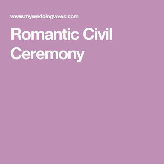 Romantic Civil Ceremony