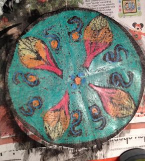 Radial Design with crayon and tempera | floridacreate