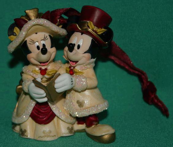 Victorian Christmas Ornaments | ... MICKEY MINNIE VICTORIAN CHRISTMAS CAROLING ORNAMENT DISNEY COLLECTIBLE