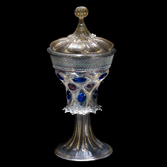 The Deblín Cup, Venice, circa 1475-1500. gold, glass, enamel.  Bequeathed by: Baron Ferdinand Anselm Rothschild,  ex-collection: Baron Ferdinand Anselm Rothschild. WB.57. British Museum. © The Trustees of the British Museum.: