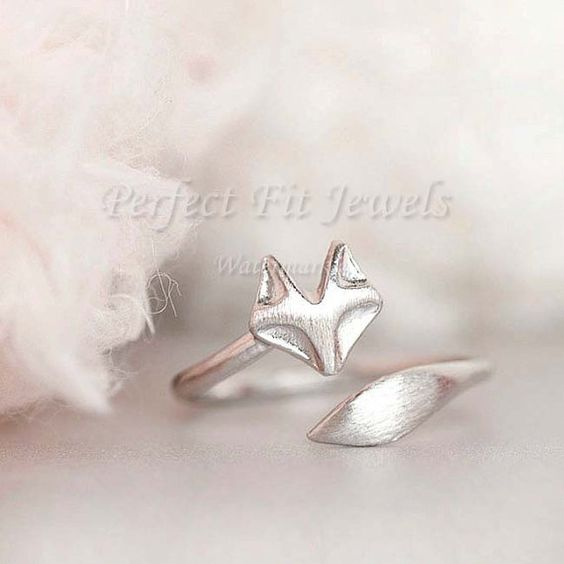 Silver Fox Ring  Cute wrap ring Jewelry  Rings by PerfectFitJewels