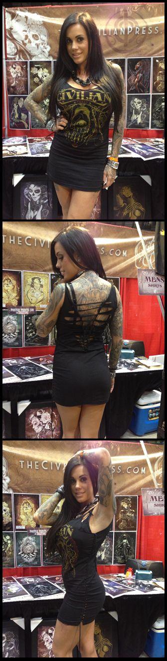 Heather moss from timeless art tattoos az in a custom cut for Tattoo expo san diego