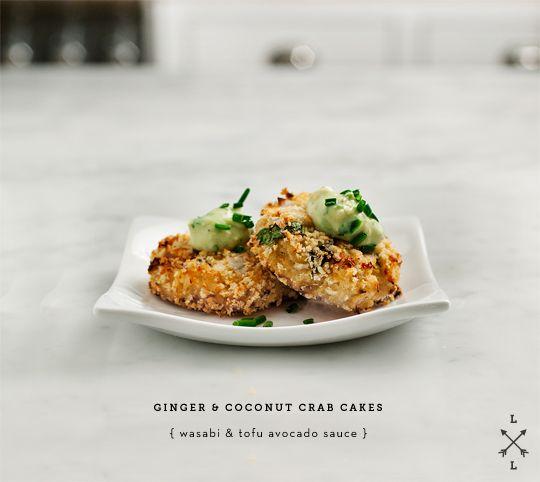 Asian Crab Cakes with Avocado-Wasabi Sauce