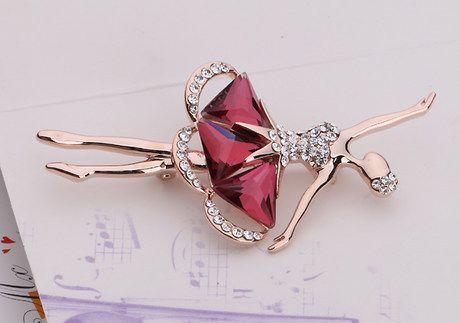 Nueva moda 2014 diamantes artificiales bailarina broche de venta al por mayor envío gratis/chica ballet/broches ramilletes/boutonnieres/pins