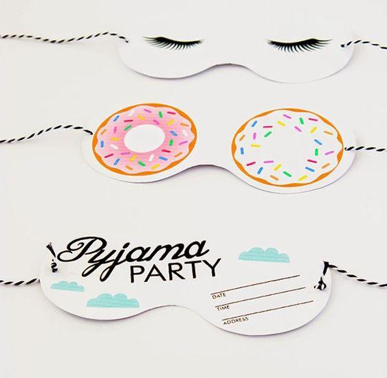 Invitación Fiesta de pijamas