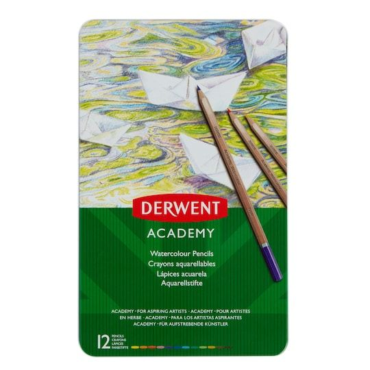 Derwent Academy Watercolor Pencil 12 Color Tin Set Michaels