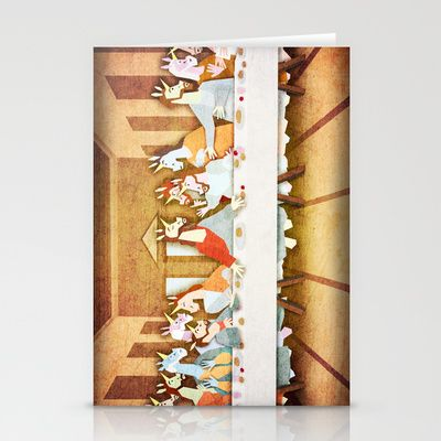 Last Supper Unicorn Stationery Cards by That's So Unicorny - $12.00