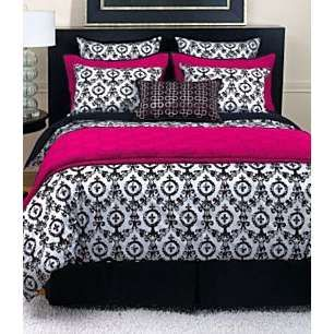 Black white and pink there 39 s no place like home pinterest bedding collections bedding and - Fleur de lis bed sheets ...
