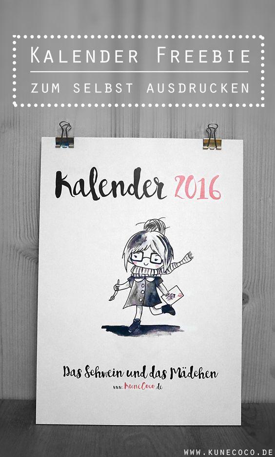 kalender 2016 zum selbst ausdrucken freebie und gewinnspiel kalender. Black Bedroom Furniture Sets. Home Design Ideas