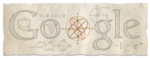 306° Aniversario de nacimiento de Leonhard Euler - google