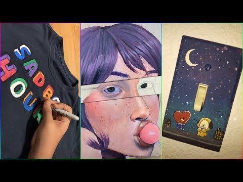 Best Amazing People Painting Random Things On Tik Tok Part 8 Youtube Tik Tok Tok Painting