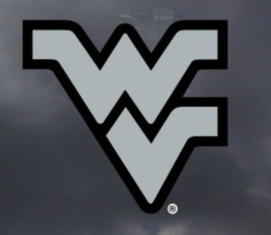 Show Your Pride For The West Virginia Mountaineers With This Silver Grey Flying Wv Logo Decal Wv Logo License Plate Covers West Virginia Free wvu wallpaper for android