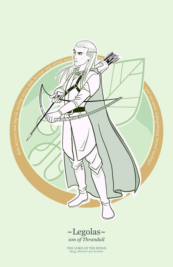 Lord of the Rings heroes byFrancisco Guerrero /// Legolas