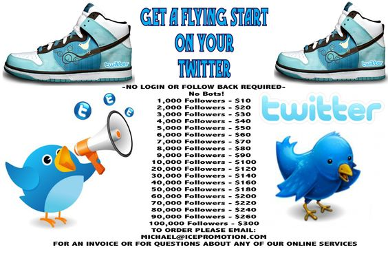 Let us build your following for you.