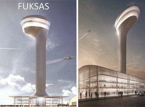 Airport Traffic Control Tower of Istanbul New Airport