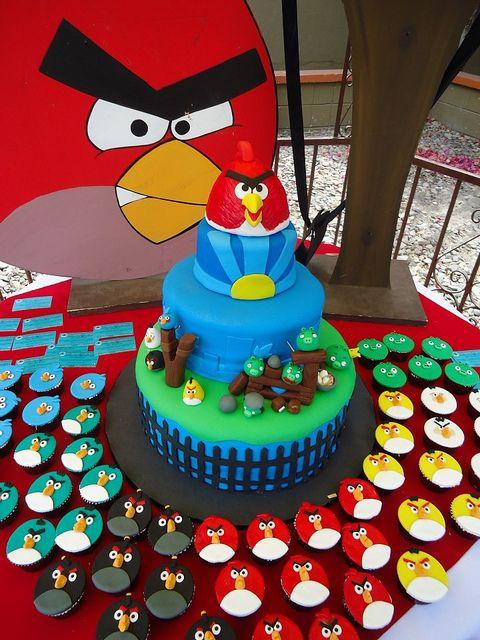 Angry Birds Cake  Cupcakes: