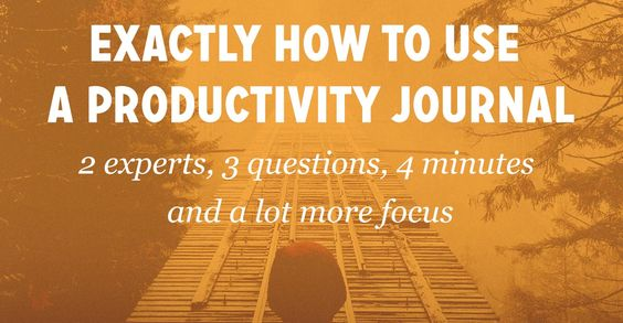 2 Experts Share Exactly How to Use a Productivity Journal (& Increase Productivity by 23%)