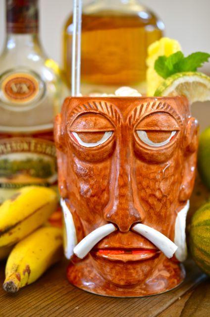 Sumatra Kula Cocktail with Vintage Tiki Mug...