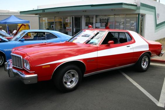 9: Starsky & Hutch: 1976 Ford Gran Torino - The Gran Torino had tons of free marketing from the show during its amazingly long run. The car surged in popularity again after the 2004 film. It's easy to appreciate the silent swag of this Torino even today.