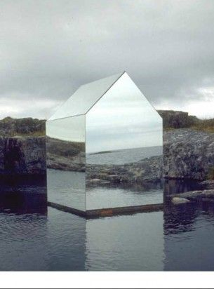 Sculptor Ekkehard Altenburger's Mirror LOVE this.... House a mirror and steel temporary Installation on the Isle of Tyree Scotland.