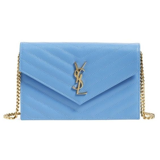 yves saint laurent monogram python-stamped wallet-on-chain