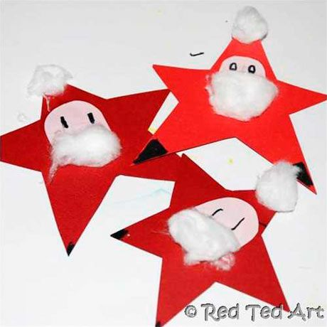 If you make more than one star you can string them together in a garland. Photograph: Red Ted Art