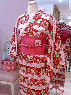 Angelic Pretty Strawberry Mille-feuille Yukata