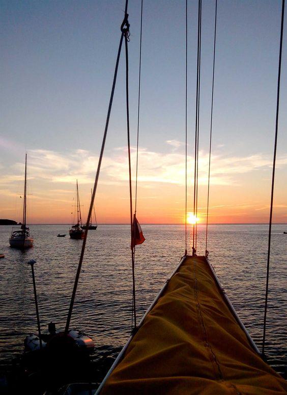 Coucher de soleil, cala Garvet (Costa Brava)