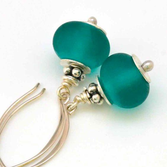 http://www.etsy.com/listing/107355680/beaded-earrings-in-sterling-silver-with# #GBKEmmyGL2012.