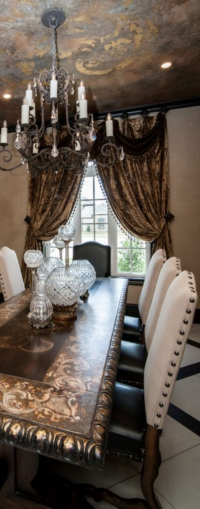Drapery reilly chance luxury draperies and window for Old world window treatments