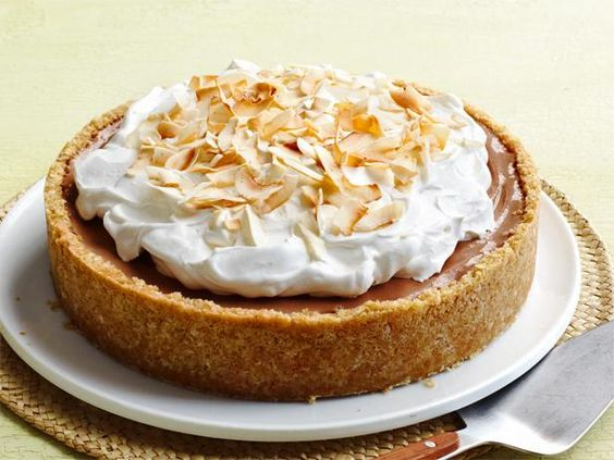 Chocolate-Banana Ice Cream Pie from Food Network Magazine #GrillingCentral: