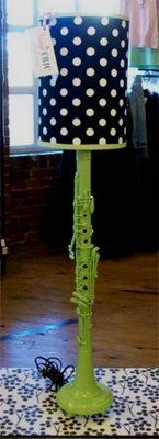 clarinet turned lamp