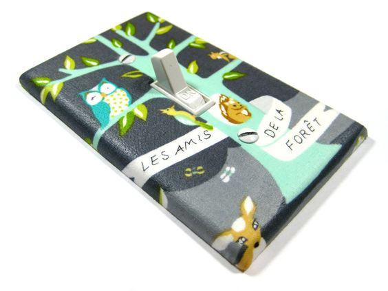 Forest Tree with Woodland Critters Nursery Decor by ModernSwitch
