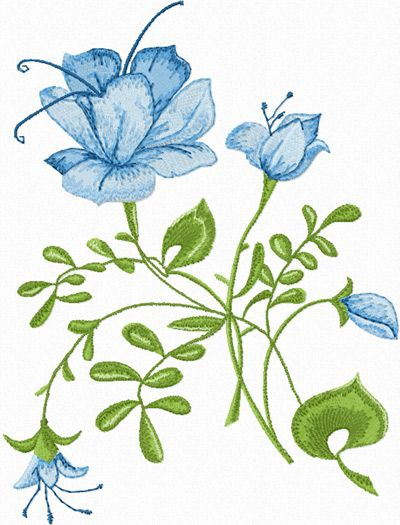 Free embroidery designs blue rose machine