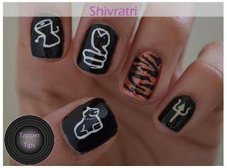 Tappin Tips: Maha Shivratri Nails