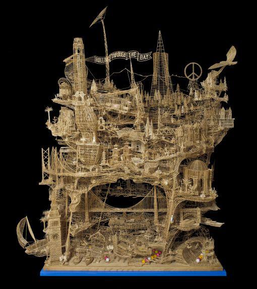 Toothpick Sculpture L 39 Wren Scott And Sculpture On Pinterest