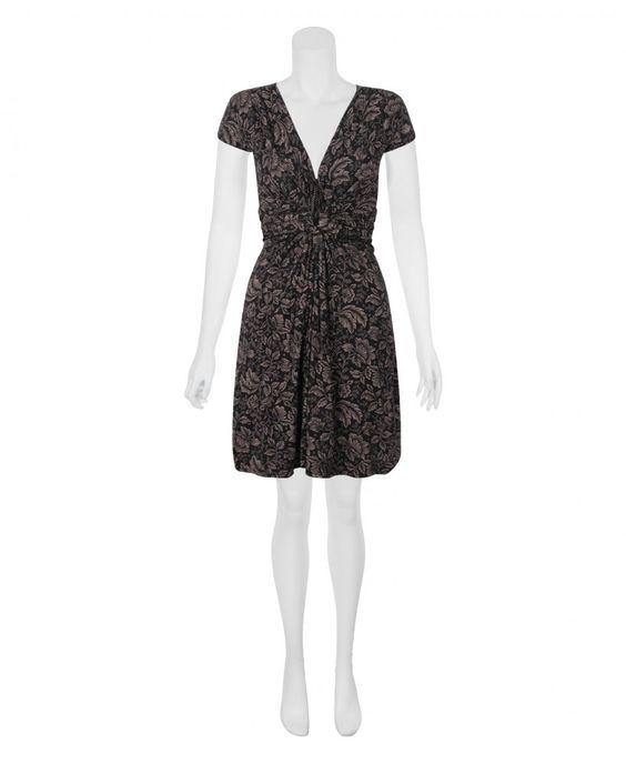 KRISP Leaf Print Knot Front Dress - KRISP from Krisp Clothing UK