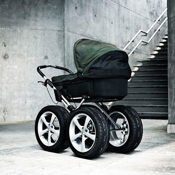 baby stroller with 4-wheel drive uh oh - daddy must be staying ...
