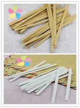 200 unids multi opción de Envases de Papel Kraft Precintos Cuerda de Alambre Cinturón Alimentos Pan Sellos de Galletas Panadería Bolsas de Embalaje de Regalo 085010002(China (Mainland))