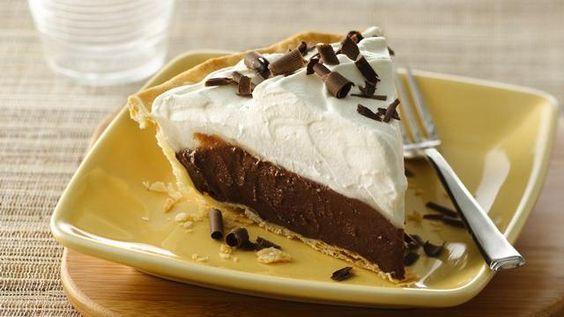Chocolate and cocanut pie