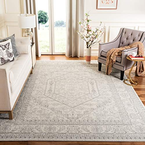 Safavieh Adirondack Collection Adr108b Ivory And Silver O Https Www Amazon Com Dp B00mn6nnnk Ref Cm Sw R Pi D Farmhouse Rugs Rugs In Living Room Cool Rugs