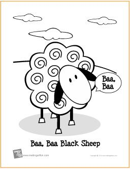 Pinterest the world s catalog of ideas for Baa baa black sheep coloring page