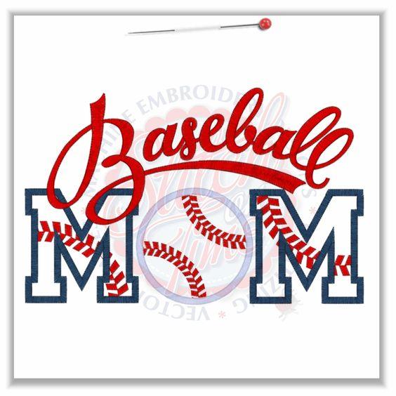 Lots of neat designs here 137 Baseball : Baseball Mom Applique 6x10