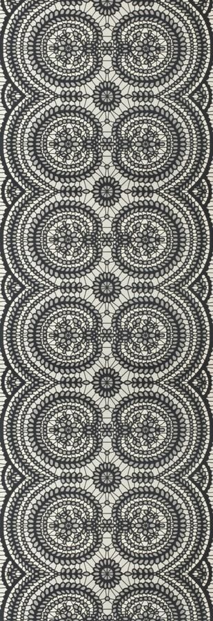 Lace Beaded Black wallpaper