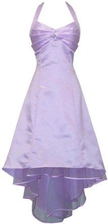 Satin Halter Dress Tulle Mini Train Prom Bridesmaid Holiday Formal Gown Junior Plus Size $69