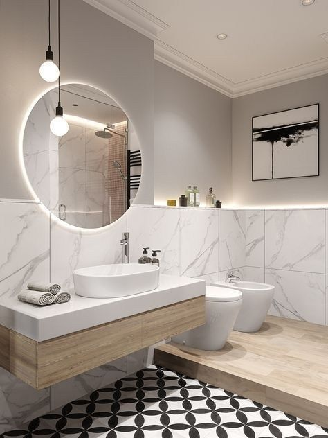 10 Modern Bathroom Design Ideas Pictures Of Contemporary Bathroom In 2020 Badezimmerspiegel Badezimmer Design Modernes Badezimmerdesign