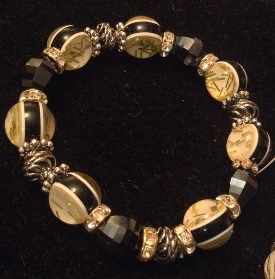 Bracelet with unique beads love it.