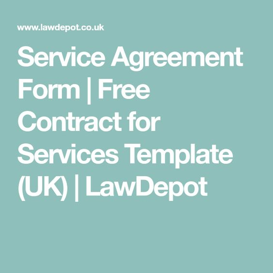 Service Agreement Form Free Contract for Services Template (UK - service agreement contract